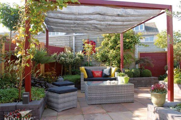 Elhúzható pergola árnyékoló 200x500cm terasz napvédelem -