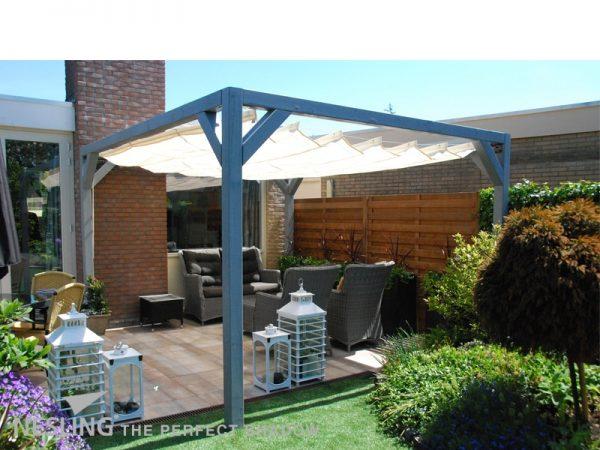 Elhúzható pergola árnyékoló 290x400cm terasz napvédelem -