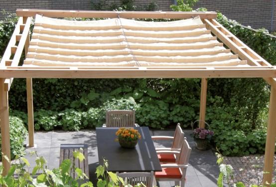 Elhúzható pergola árnyékoló 370x500cm terasz napvédelem -