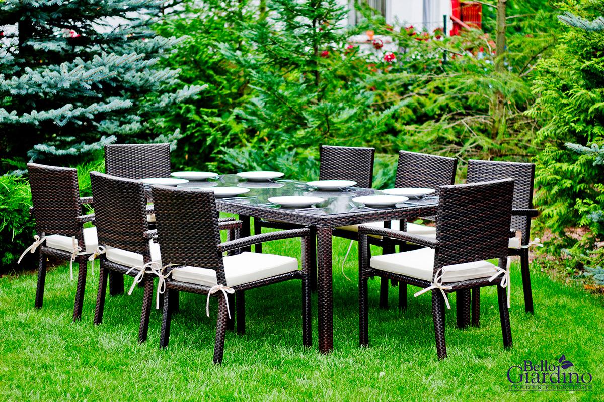 Időjárásálló rattan kerti bútor Ombroso kerti párnákkal együtt
