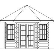 Kerti pavilon szerkezete