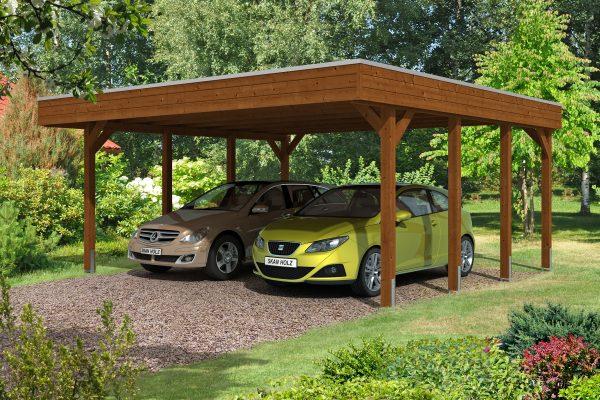 Kétállásos nyitott garázs 2 autónak
