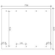 Nyitott dupla garázs alapozási műszaki rajza 620x750cm