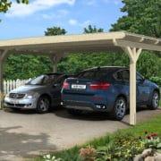 Nyitott garázs polikarbonát tetővel 4db pilléren
