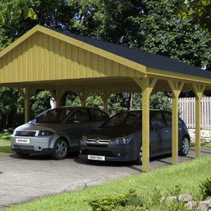 Nyitott garázs nyeregtetős kivitel 620x750 cm