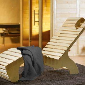 Szauna pihenőágy Komfort törölközővel
