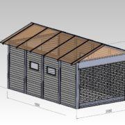 Zárt szigetelt garázs panel garázs