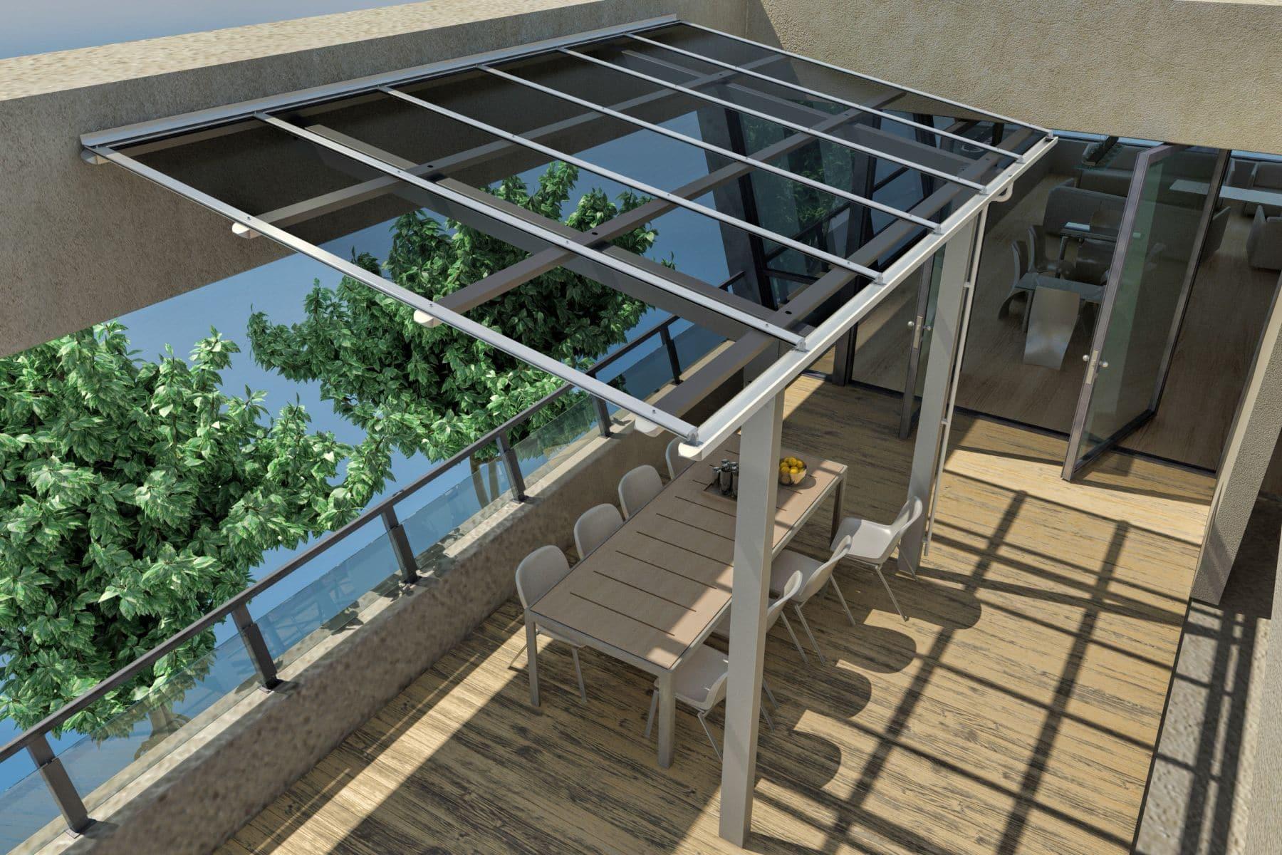 PV2 VERANDA Terasz tető