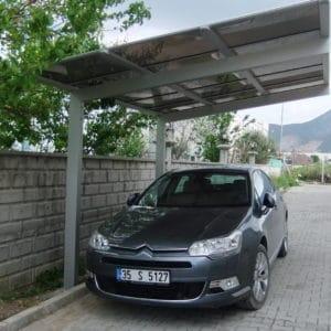Nyitott garázs autóvédelem TFP2
