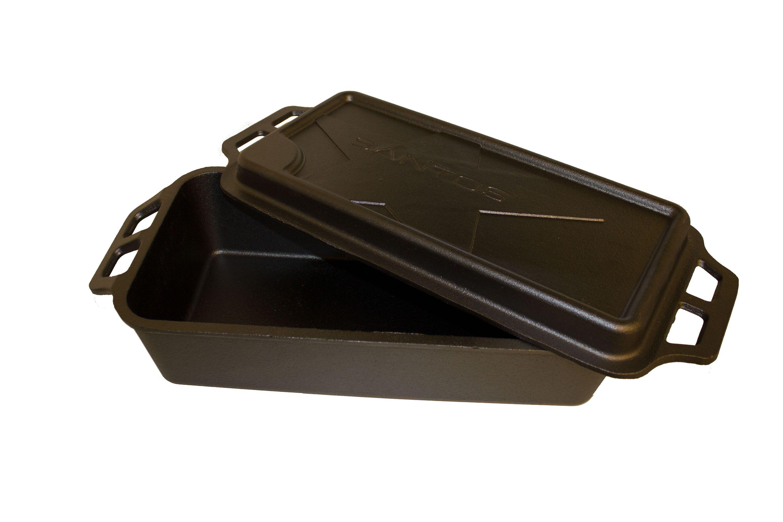 655821-Santos-öntöttvas edény grillhez fedéllel