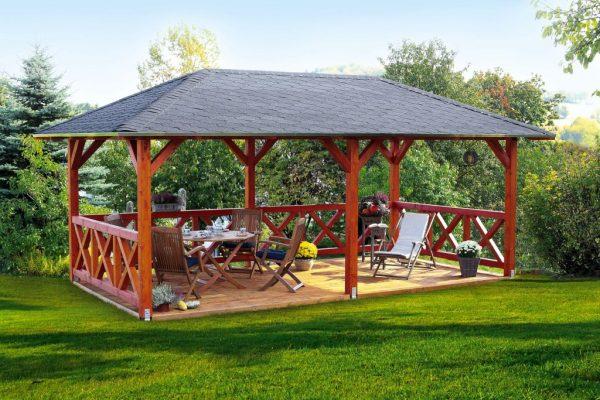 Nagyméretű kerti pavilon építés fából Orleans
