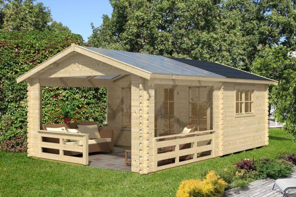 Gerendaház polikrbonát terasz tetővel Holmestrand 45mm