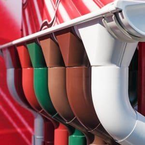Esővíz elvezető csatorna több színben