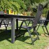 Összecsukható karfás kerti szék Flair alu szék