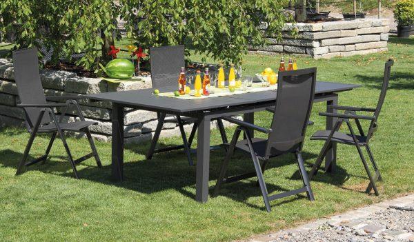 Alumínium kerti bútor garnitúra bővíthető asztallal Chcago Flair karfás székkel