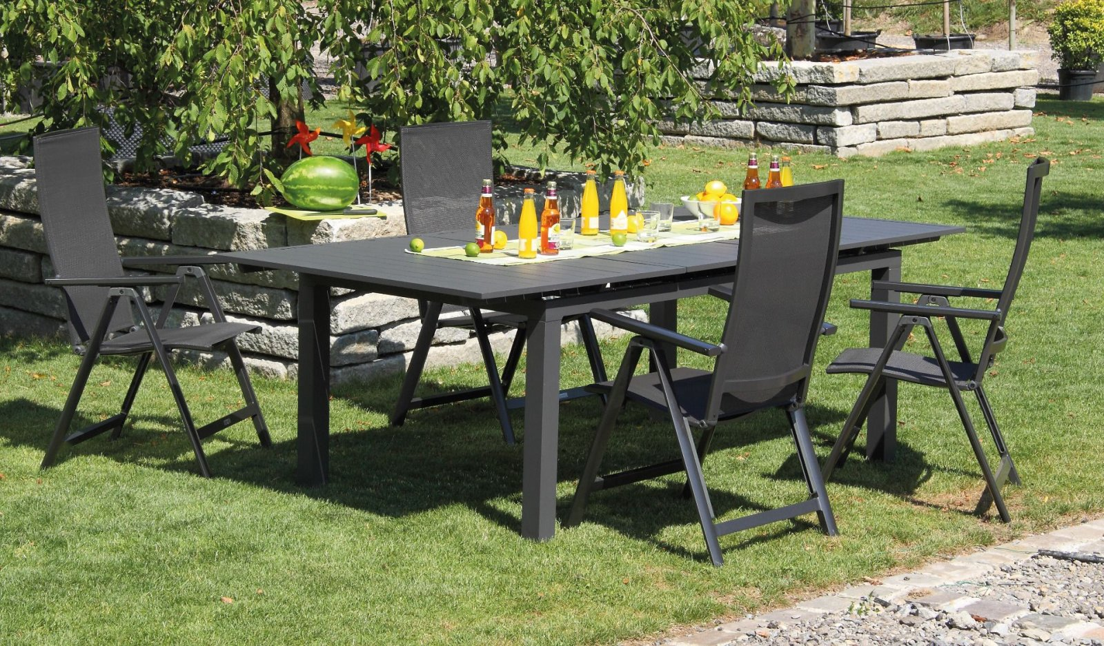 Alumínium kerti bútor garnitúra prémium Flair székekkel