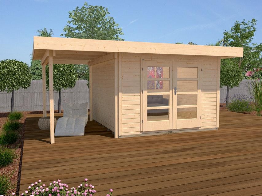 Weka design faház fatárolóval natúr kezeletlen 126_3024_40111