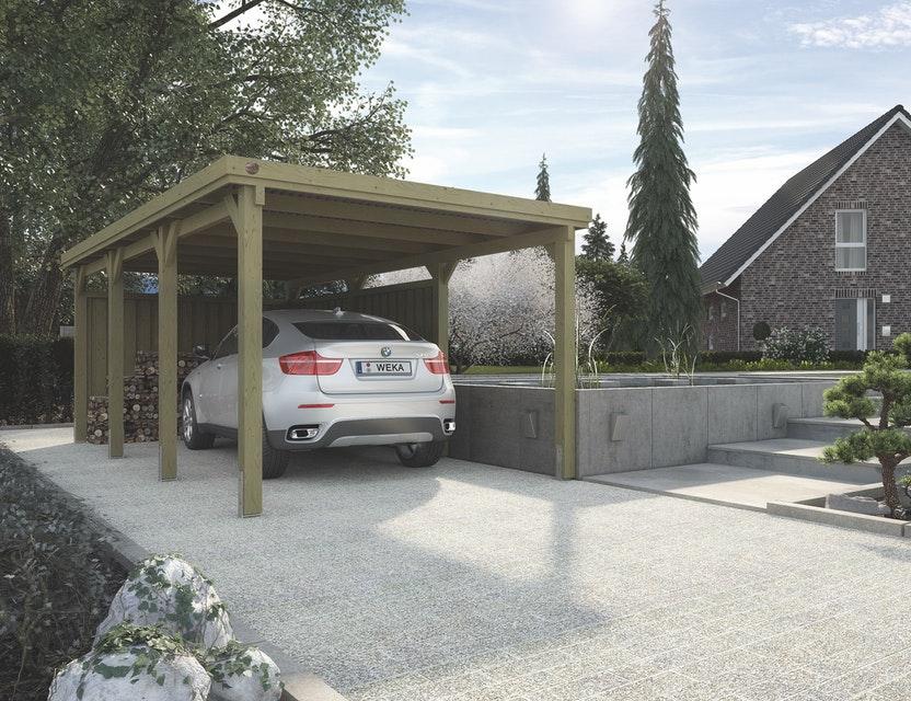Weka nyitott garázs carport_617