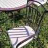 Fém kerti bútor mozaiklapos terasz garnitúra -