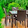 Rattan étkező kerti bútor Avvicente